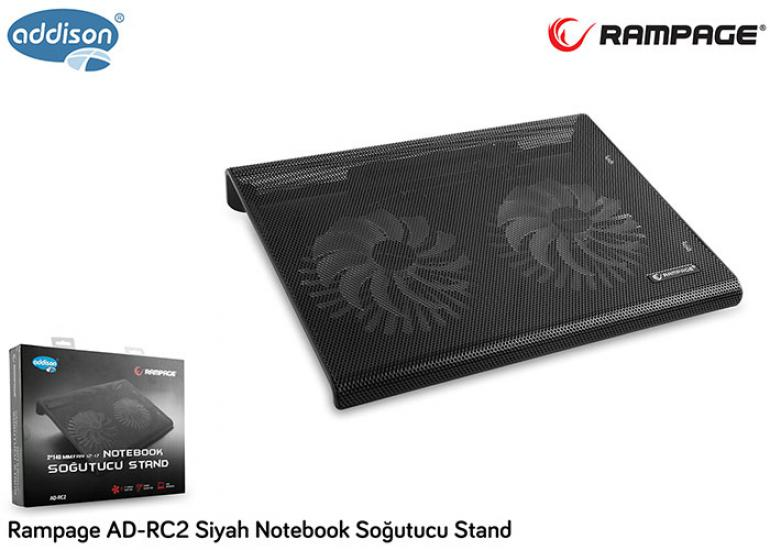 Addison Rampage AD-RC2 Siyah Notebook Soğutucu Stand